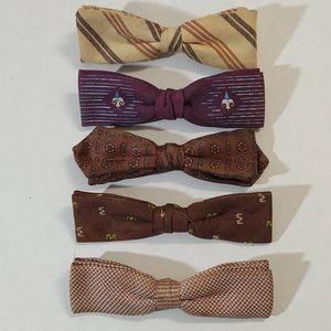 Vintage Western Clip On Bow Ties Bundle (5)